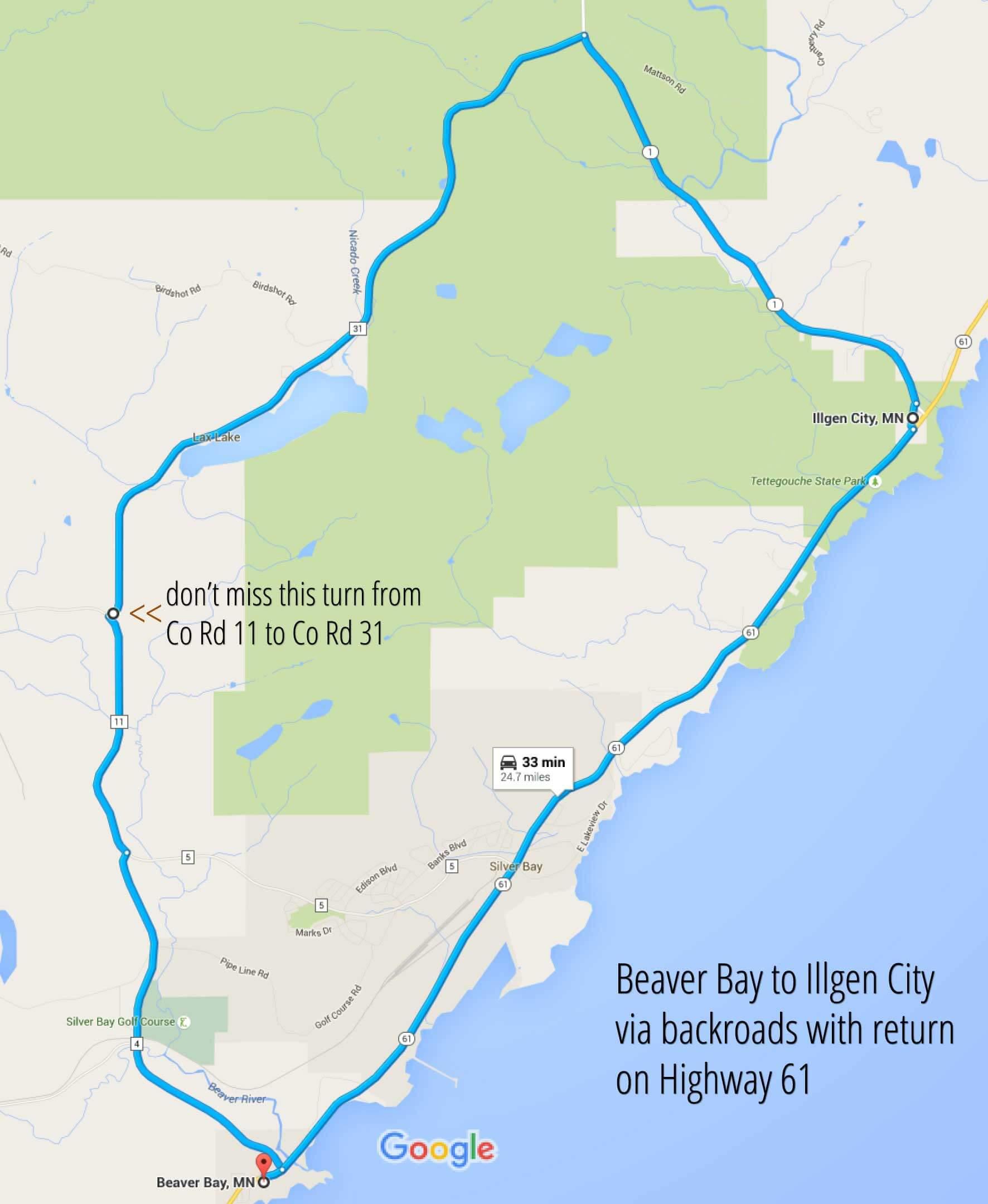 Beaver Bay to Illgen City