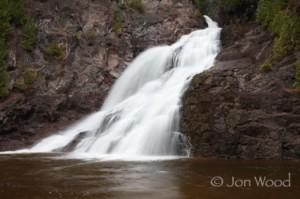 caribou falls, 3/4 mi hike from wayside