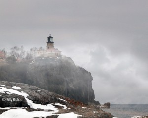 foggy split rock lighthouse
