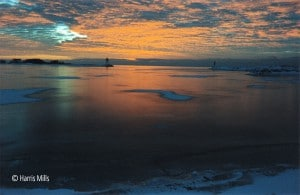Grand Marais Winter Sunset