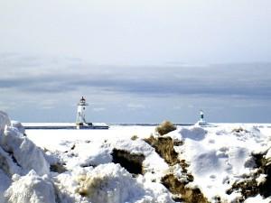 Winter, Grand Marais Harbor