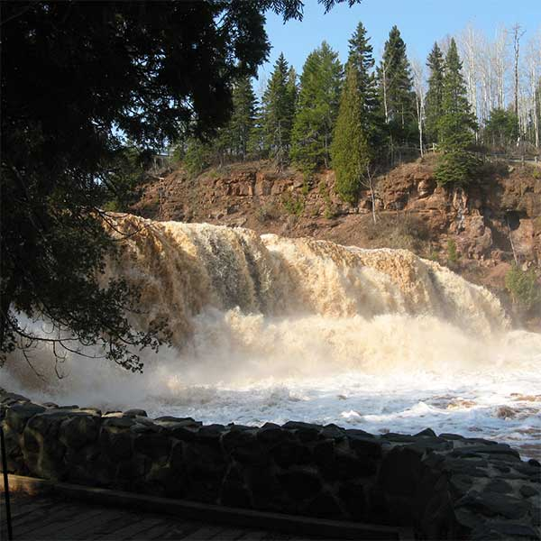Upper, Lower, Middle & Fifth Falls of the Gooseberry River