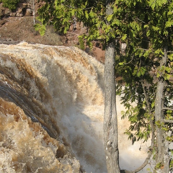 middle falls, gooseberry river