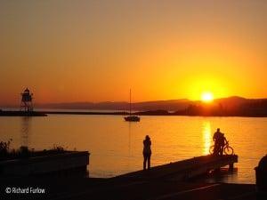 harbor sunset grand marais