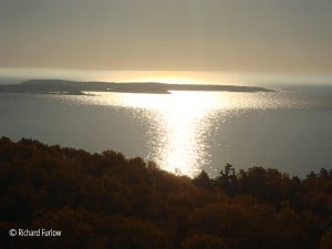 sunrise over grand portage