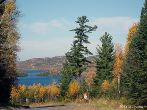 North across Gunflint Lake to Canada