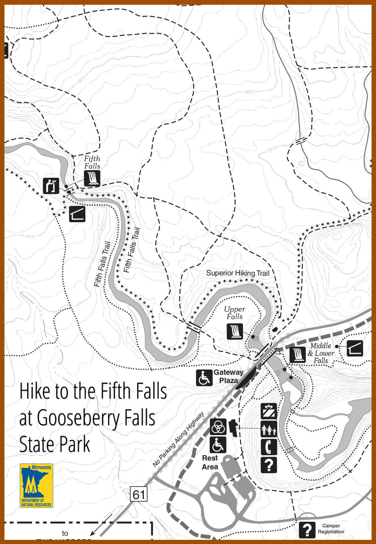 Gooseberry Fifth Falls Tour