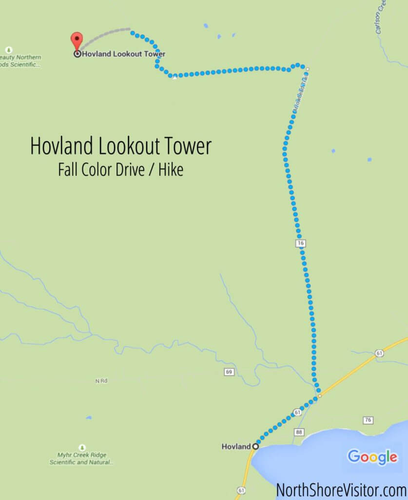 hovland look out tower map