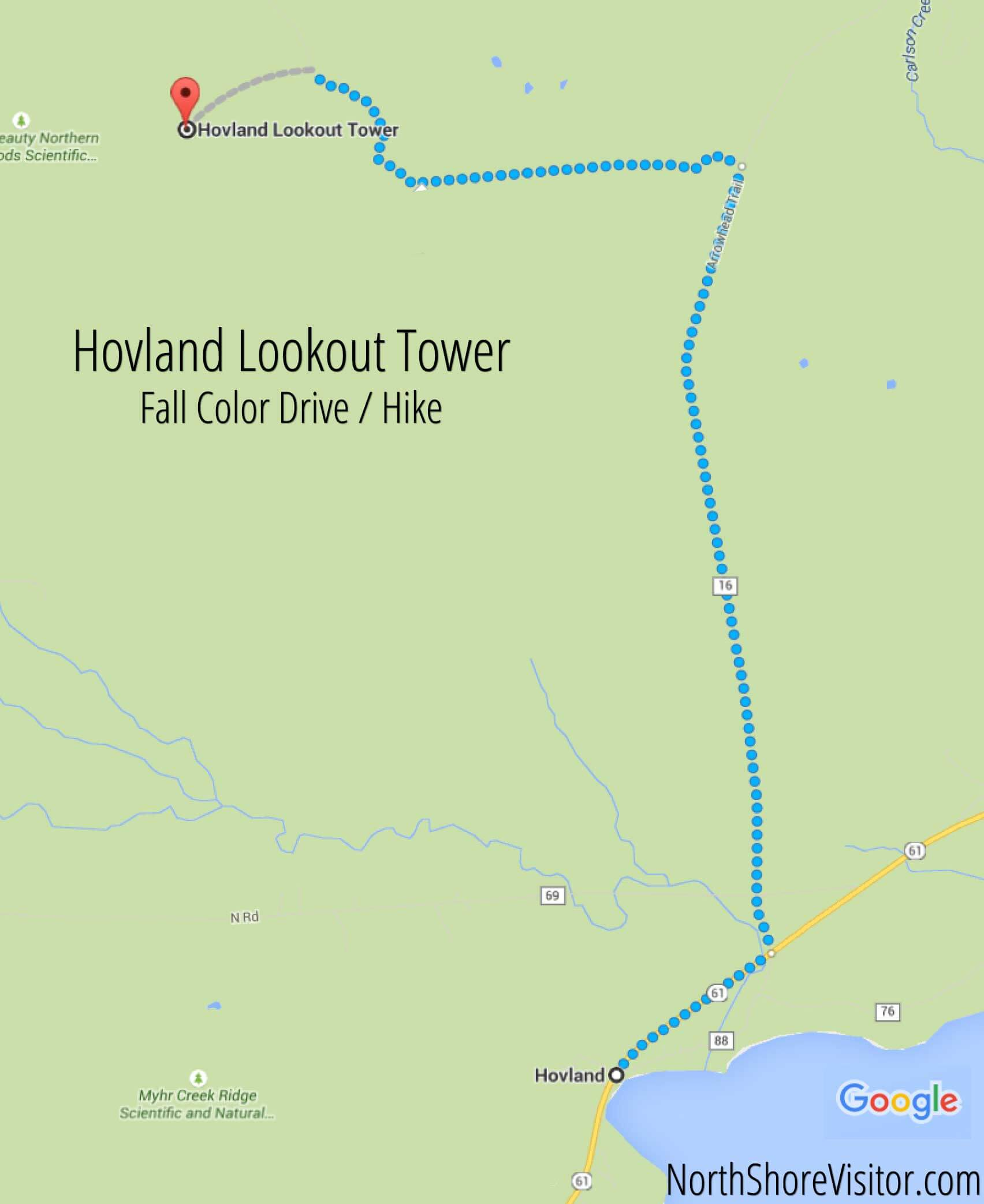 Hovland Lookout Tower (Drive & Hike)