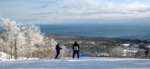 lutsen mountains ski run moose