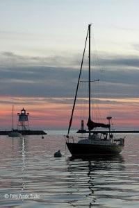 serene sailboat