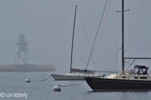 Foggy morning, Grand Marais harbor