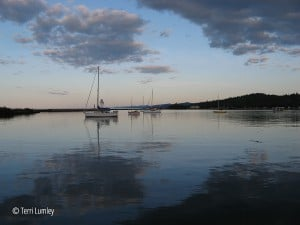 a quiet evening in the grand marais harbor