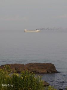 a salty [ocean bound ship]