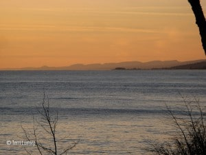 sawtooth mountains rising above lake superior