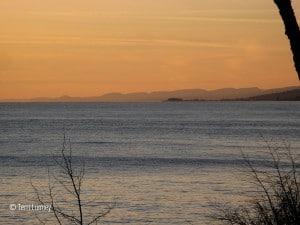Sawtooth Mountains rising above Lake Superior