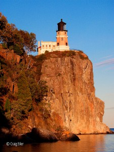 Late afternoon at the cliff, Split Rock Light
