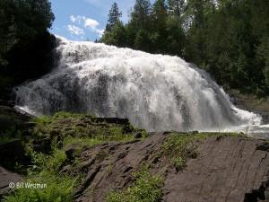sparkly white waterfalls