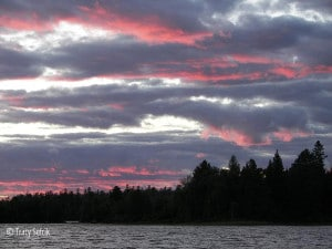 sunset over poplar lake, mid-gunflint trail