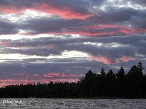 Sunset over Poplar Lake, Gunflint Trail