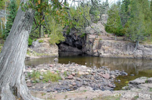 pool below falls at temperance river