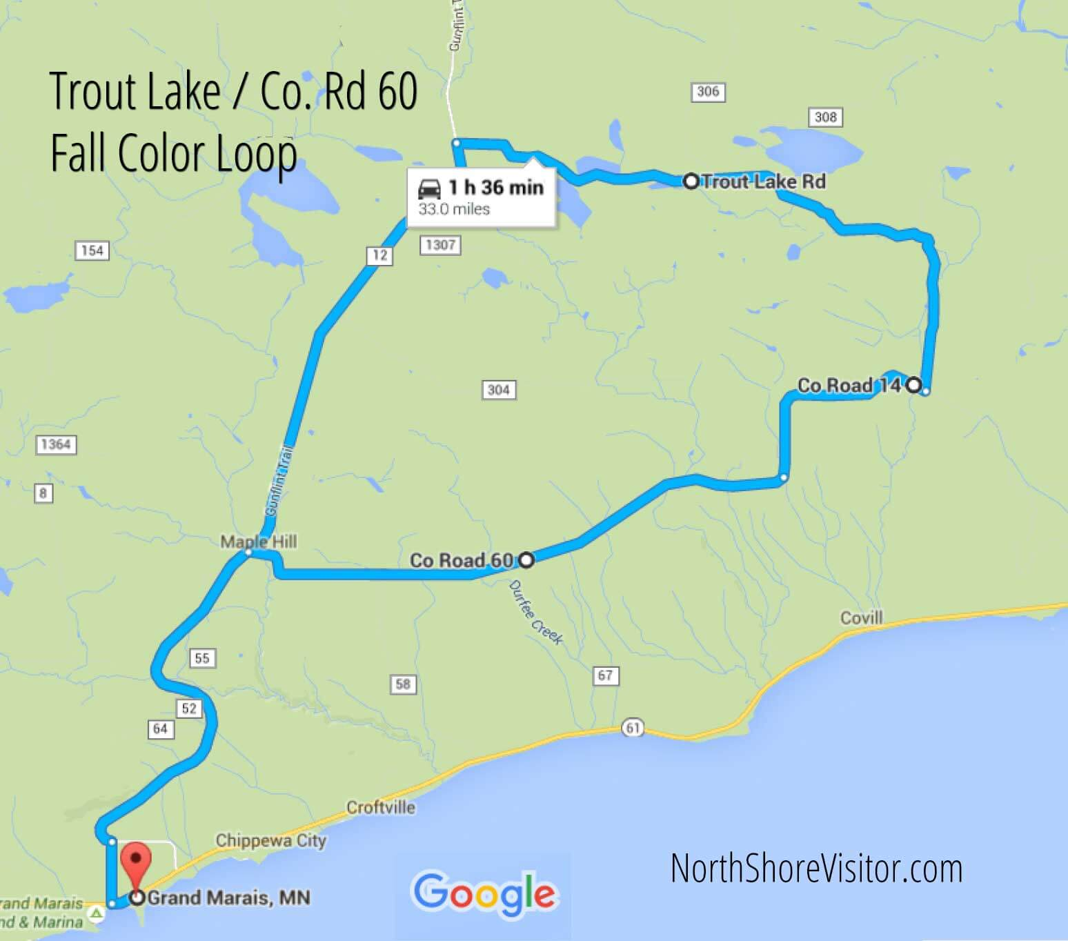 Trout Lake Road and County Road 60 Loop