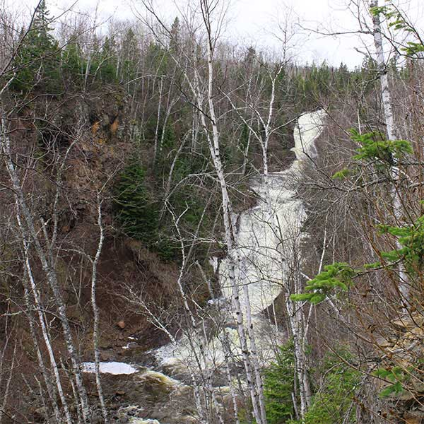 Stairstep falls of the onion River in early spring