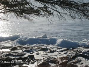 Wintery shoreline
