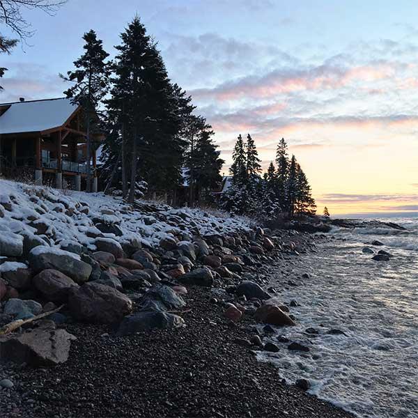 Temperance Landing on Lake Superior