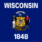whale on wisconsin state flag
