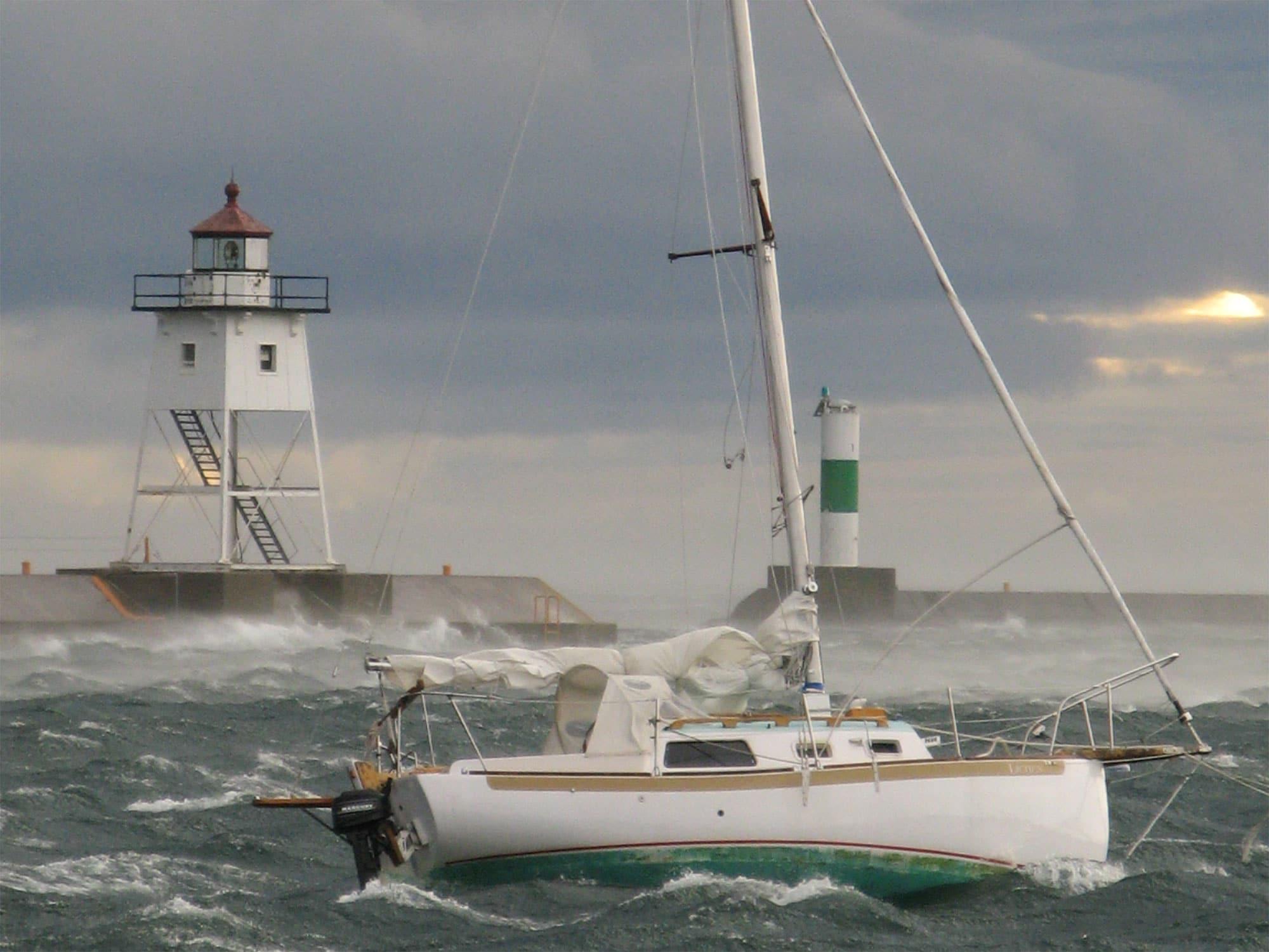 sailboat waves
