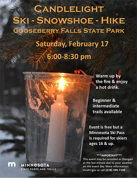 Gooseberry Falls State Park Candlelight Event