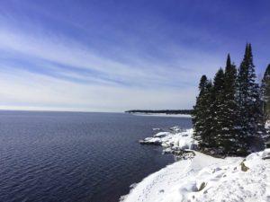 winter shoreline lake superior