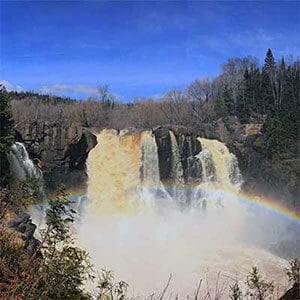 highest falls in minnesota high falls of pigeon river at grand portage state park
