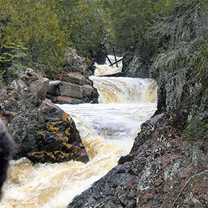 waterfalls cascade river state park