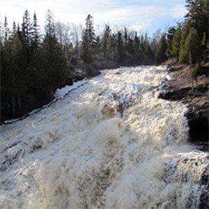 cross river waterfall
