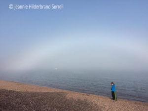 Fogbow over Grand Marais harbor
