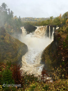 autumn high falls, grand portage