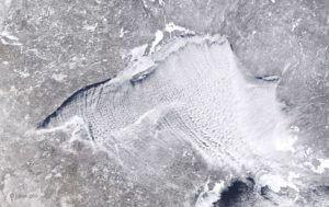 lake superior from NASA during arctic vortex