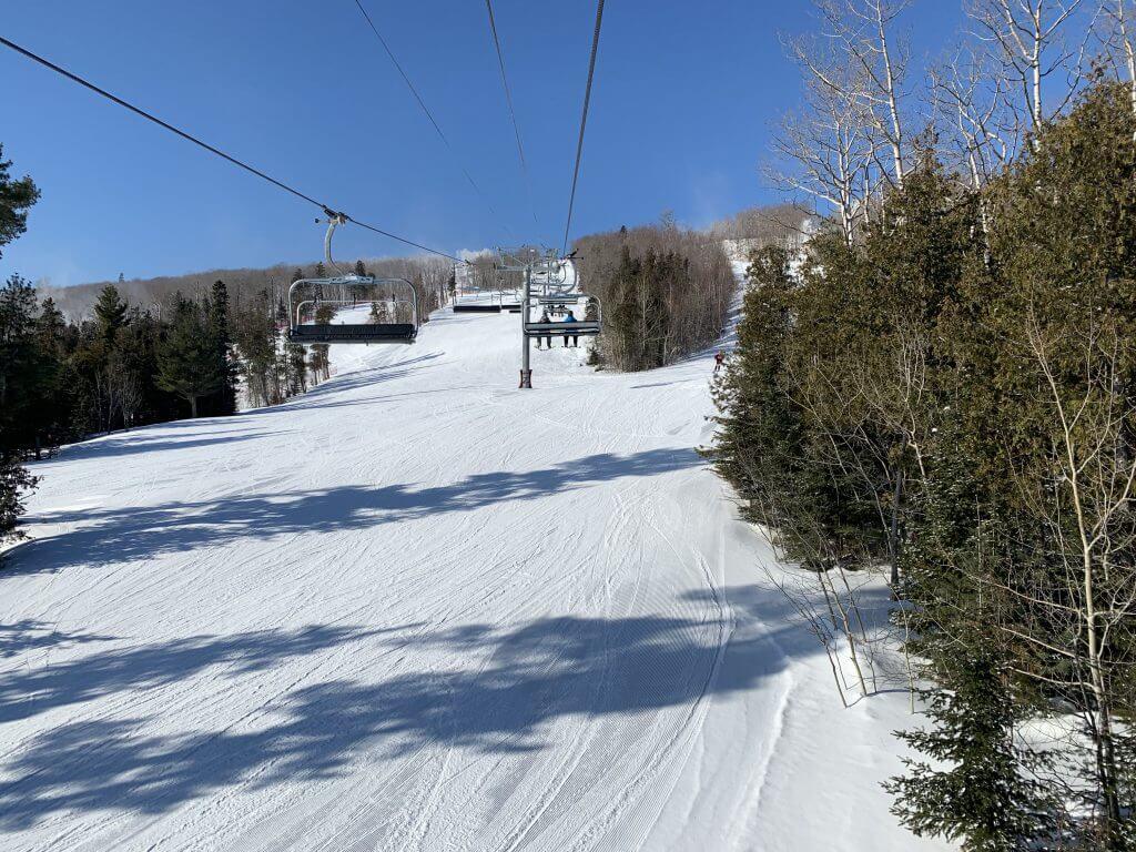 chairlift over ski runs