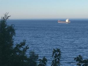 sailing by shore