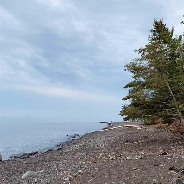 bluebird landing beach on minnesota scenic 61 on lake superior