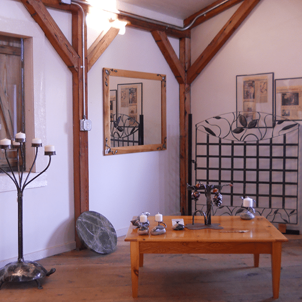 a few pieces displayed in the burton forge and gallery