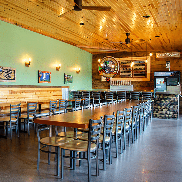 taproom at castle danger brewing downtown two harbors