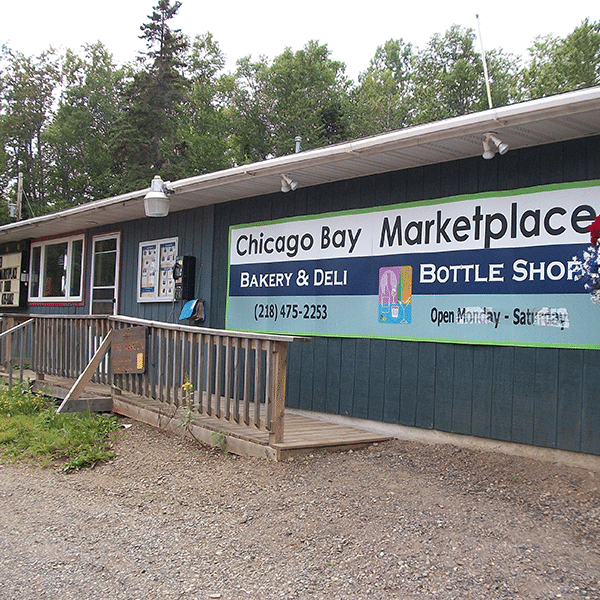 chicago bay marketplace storefront and background forest