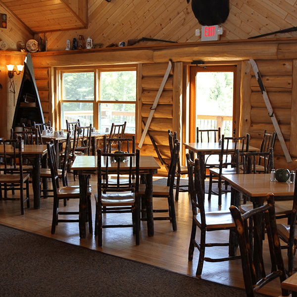 Hungry Jack dining room with tables and decorations