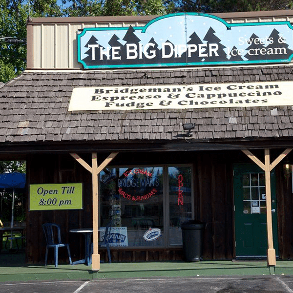The Big Dipper drive up mini mall storefront