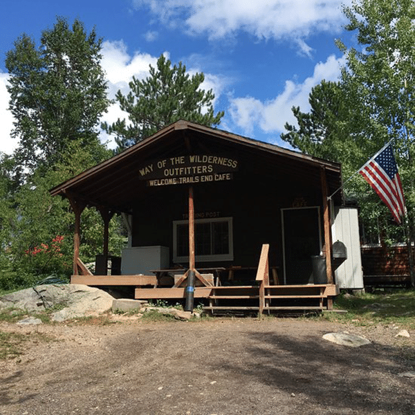 trails end cafe restaurant nestled in the trees