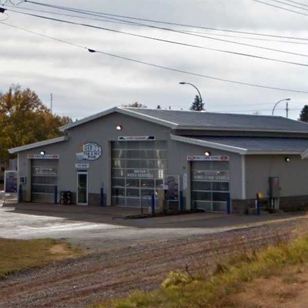 Outside of triple car wash and pet wash two harbors
