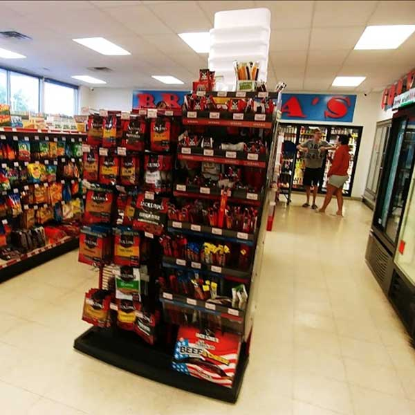 Convenience items at Silver Bay store